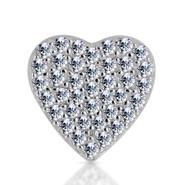 14k White Diamond Heart