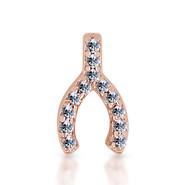 14k Rose Diamond Wishbone