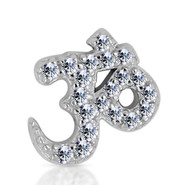 14k White Diamond Ohm