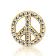 14k Yellow Diamond Peace Sign