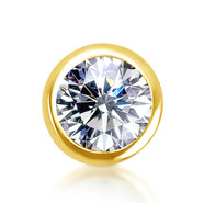 14k Yellow Diamond Bezel