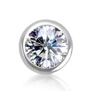 14k White Diamond Bezel