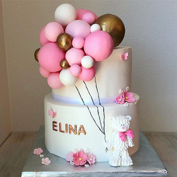Such a cute cake for a beautiful baby sh