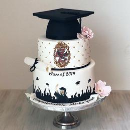 Such a Unique graduation cake , designed