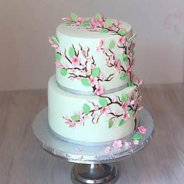 Cherry Blossom Wedding Cake._#emmacakery