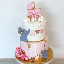 Gorgeous Baby Shower cake for a beautifu