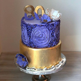 One of my Favorite golden purple cake wi