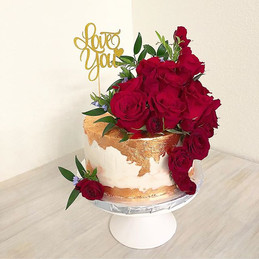 Red Roses cake for my beautiful friend,