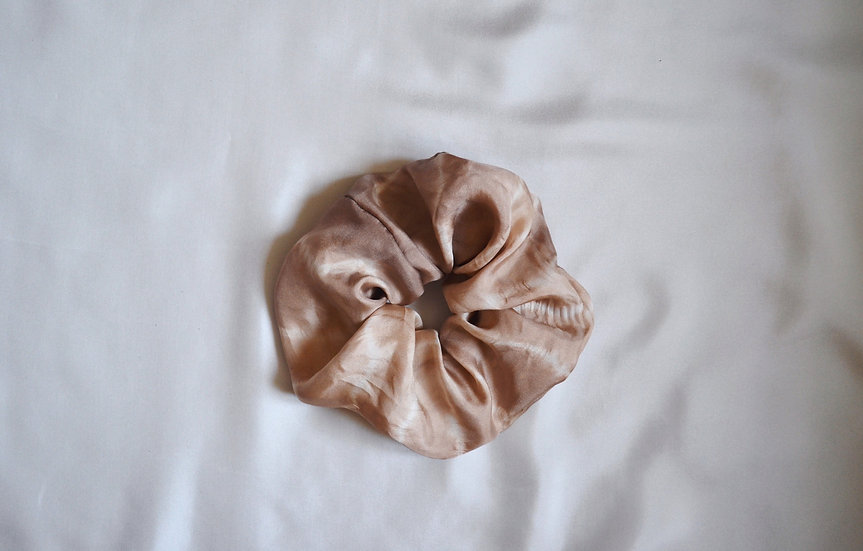 Scrunchie marron tie and dye
