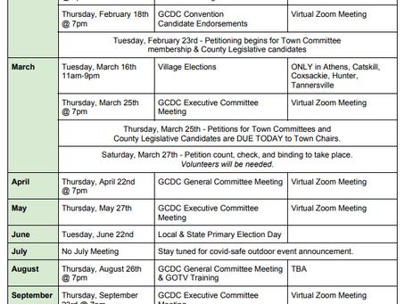 GCDC Announces 2021 Calendar
