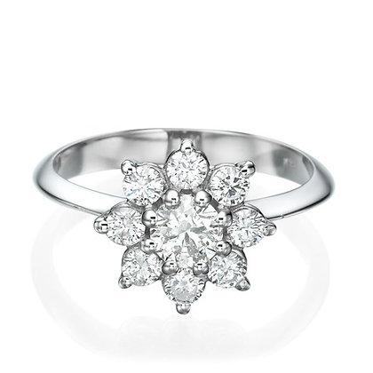 טבעת יהלומים 4