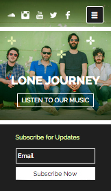 Band website templates – De band