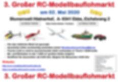 Flyer Modellbauflohmarkt 2020 mit Impres