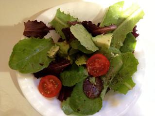 Sweet and creamy avocado tomato salad