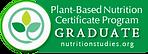 Plant-based Nutrition Certificate Badge
