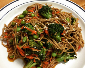 Quick & Easy Veggie Soba Noodle Bowl With Sweet Teriyaki Sauce (vegan, nut-free)