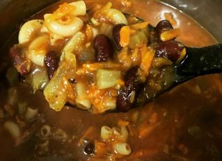 pasta e fagilio (pasta and bean soup!)