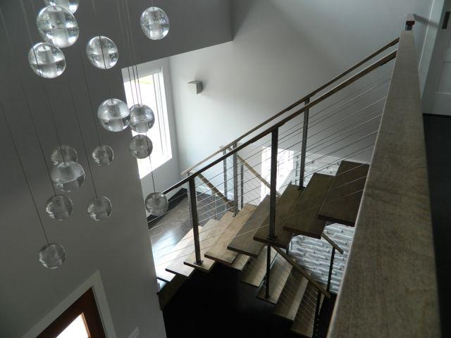 Steel & maple floating stair