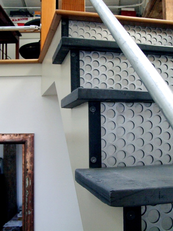 mixed material staircase