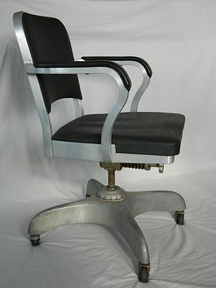1950 emeco navy swivel office chair
