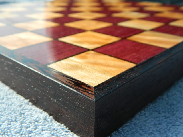exotic hardwood chessboard