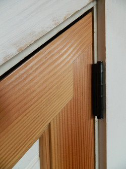 Angled door joinery detail