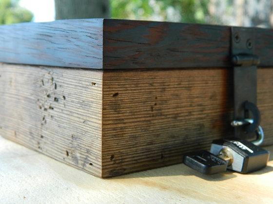 reclaimed barn wood lock box