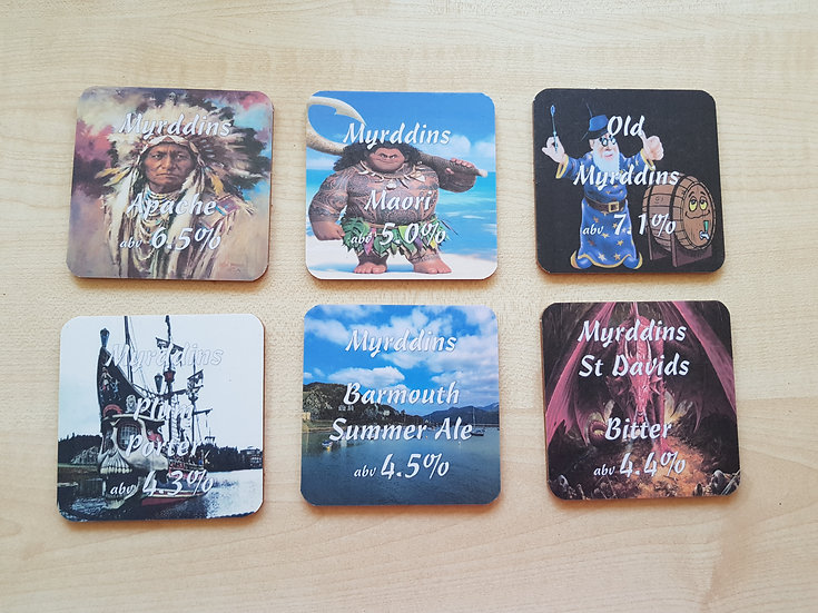 Myrddins Coasters - Apache Set
