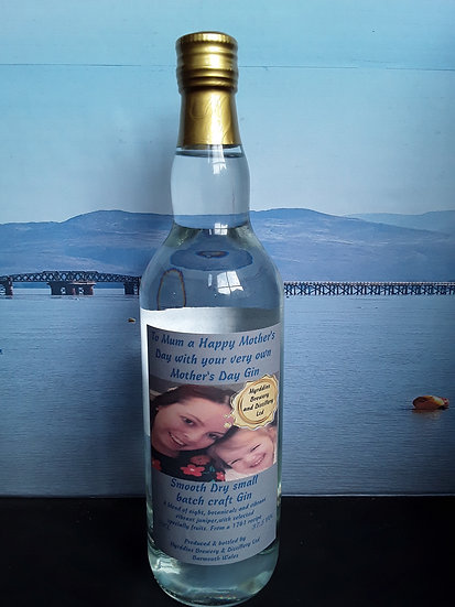 Mothers Day Personalised Bottle of Spirit - Photo