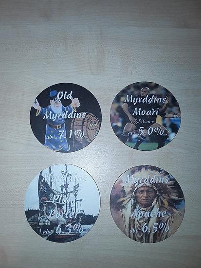 Round Coasters - Old Myrddins