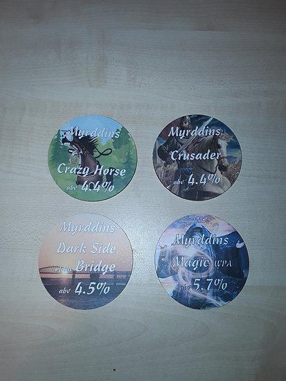 Round Coasters - Crazy Horse