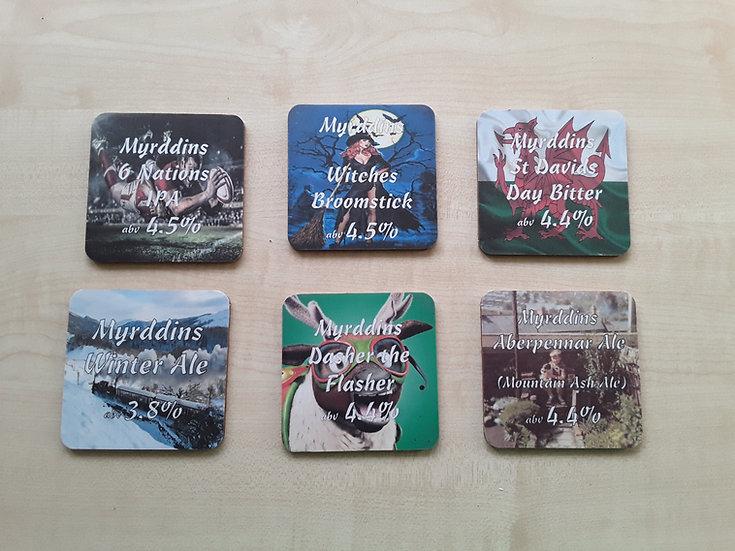 Myrddins Coasters - 6 Nations Set