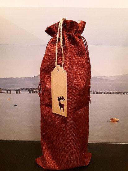 Spirit Bottle Christmas Gift Bag - Red