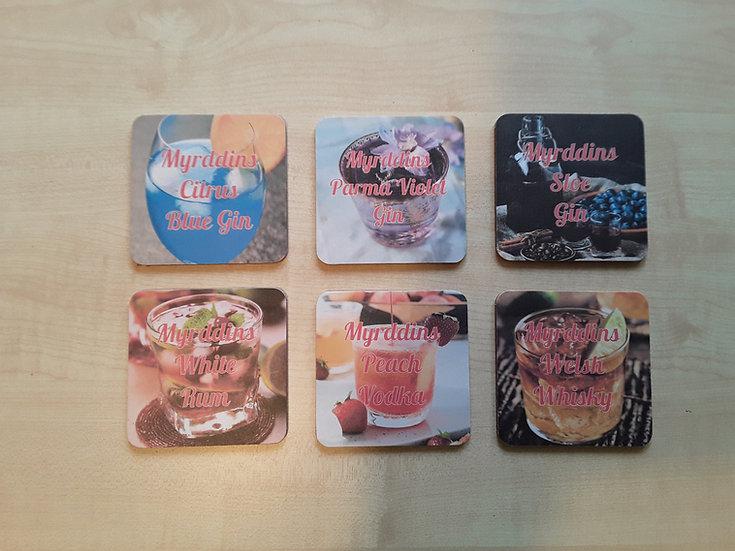 Coasters - Blue Gin Set