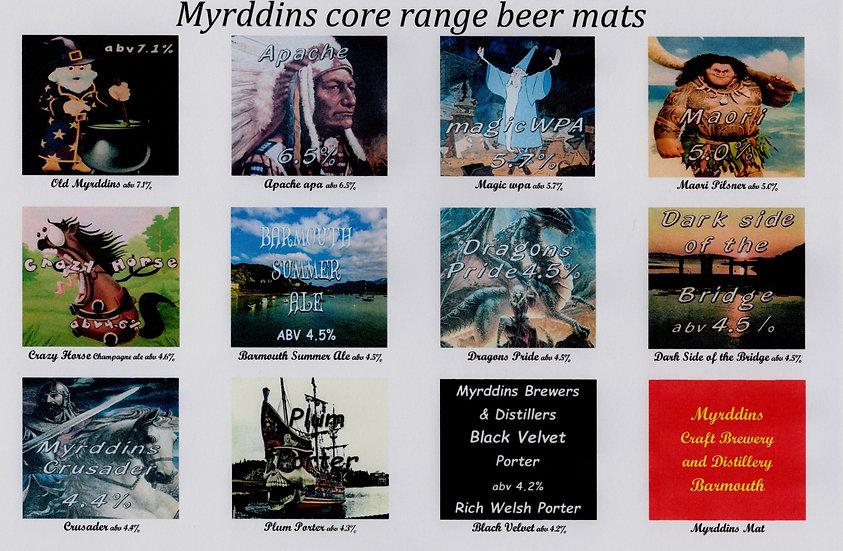 Myrddins Beer Mats