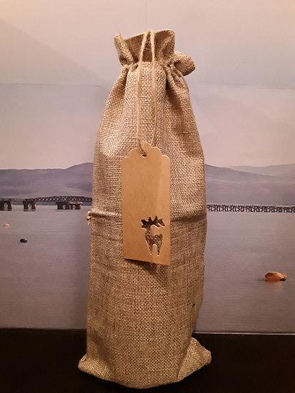 Spirit Bottle Christmas Gift Bag - Beige