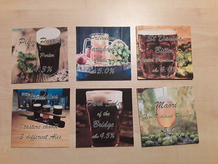 Beer Mats - Plum Porter Set
