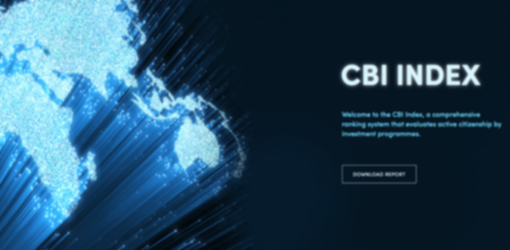 CBI index download page with map of the world logo