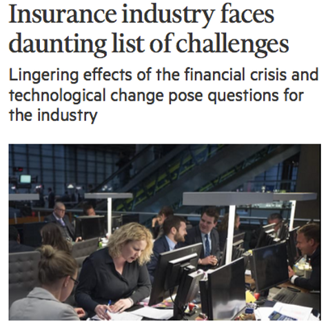 News paper article about the insurance