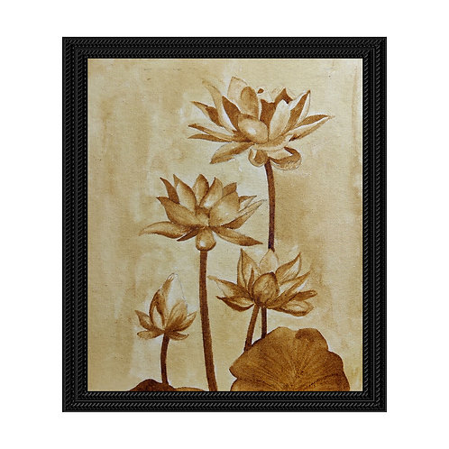 Lotus - Coffee Painting