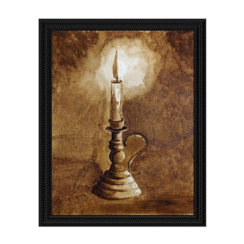 Candle Light - Coffee Painting