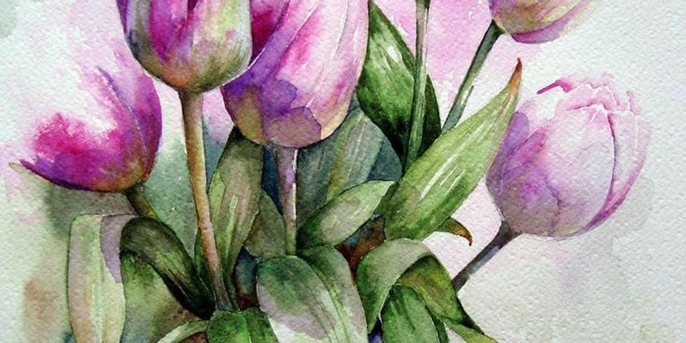 Online - Water Color Painting Workshop (Evening Batch)