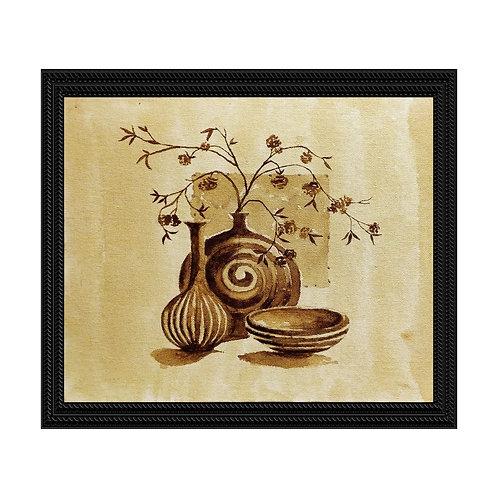 Vases - Coffee Painting