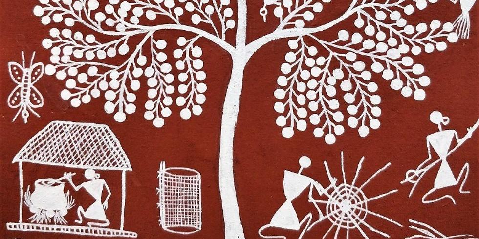 Warli Art Workshop on Canvas