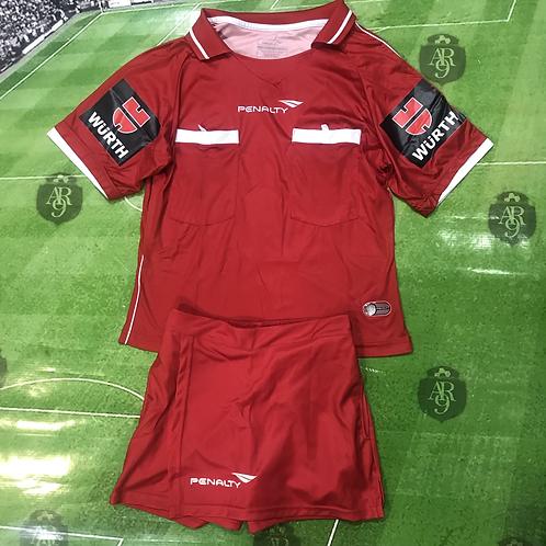 Conjunto Arbitro Femenino Rojo