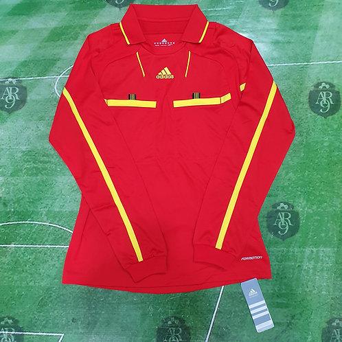 Camiseta Arbitro Femenino Adidas Formotion Manga Larga Roja
