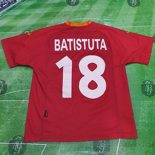 Camiseta AS Roma #18 Batistuta 2000
