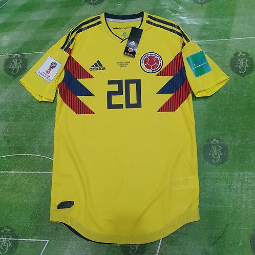 Camiseta Titular Selección Colombia Mundial 2018 #20 J. Quintero