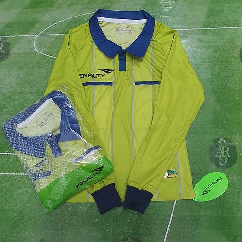 Camiseta Arbitro Femenino Manga Larga Penalty Verde