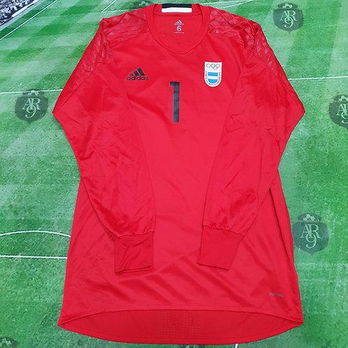 Camiseta Arquero AFA Juegos Olímpicos 2016 #1 Rulli